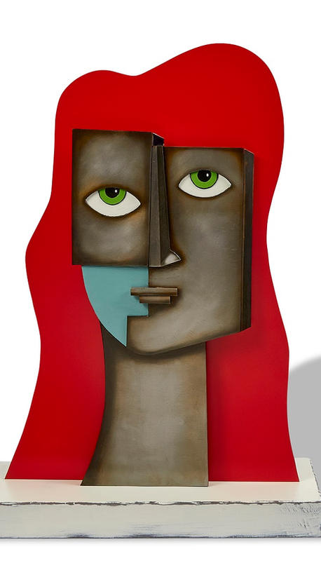 """""""Red"""" abstract bust. 27""""h x 19""""w x 8""""d"""