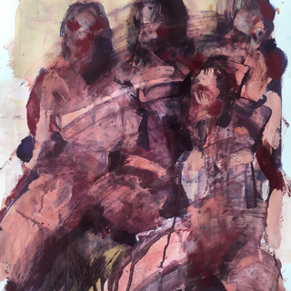 Daughters of Man 00022019, acrylics/pigments on paper, 41x28 inches, 2019