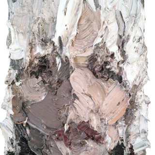 Doe Lang, oil/pigments on cotton, 24x16 inches. 2012
