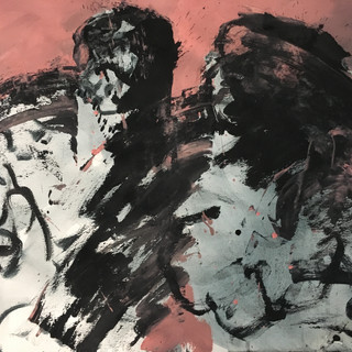 Affections 00072019 acrylics/pigments on paper, 27x39 inches, 2019