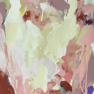 Rachel, acrylics/pigments on cotton 28x16 inches, 2019
