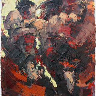 Assassin, oil/cotton 67x55 inches, 2011