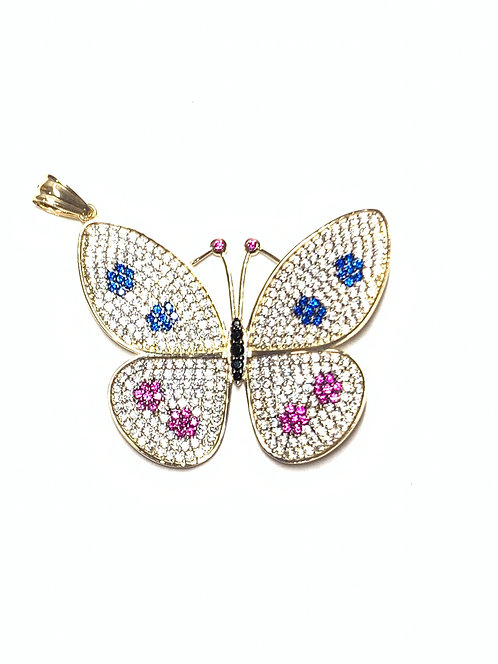 Spotted Butterfly Pendant