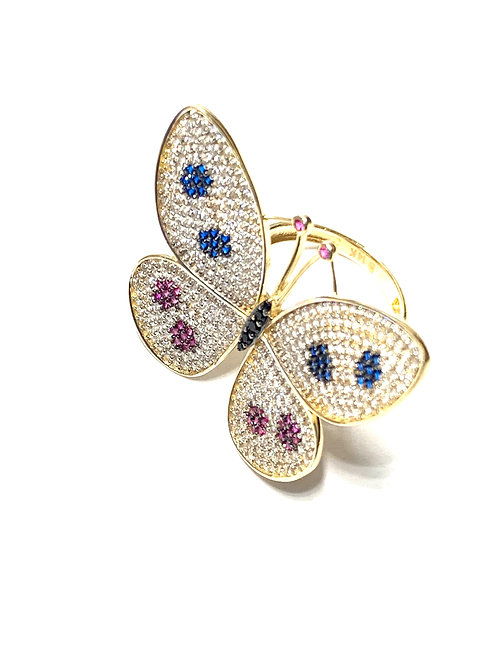 Spotted Butterfly Ring