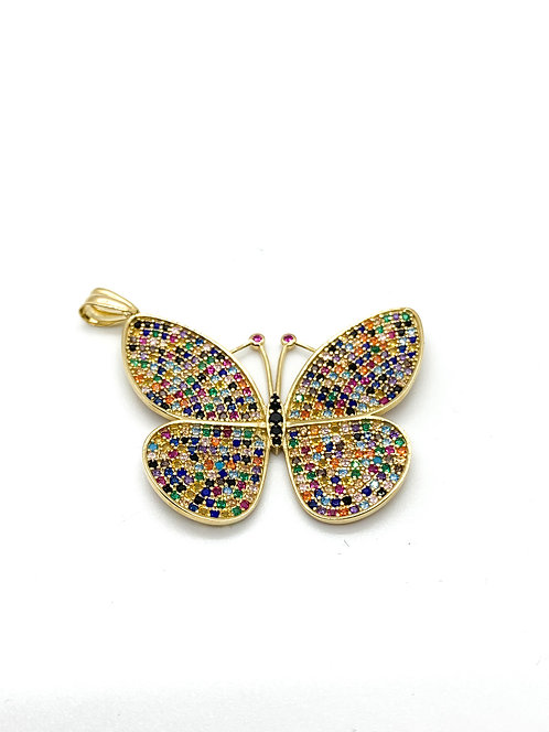 Multicolor Butterfly Pendant