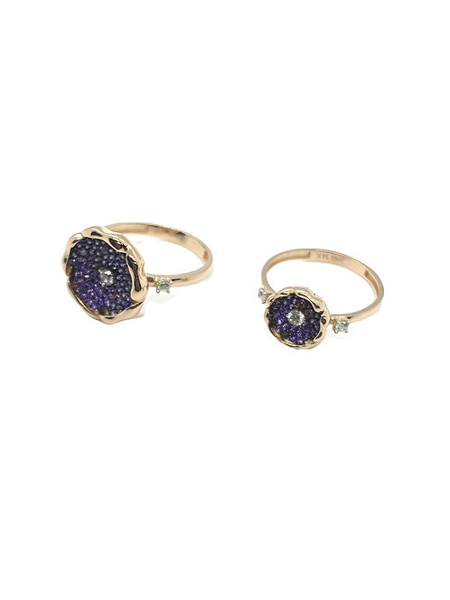14k Purple Flower Ring