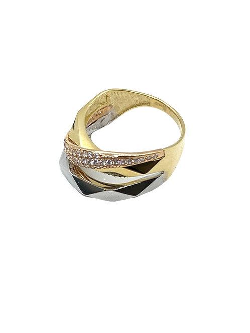 Tri Color Hexagon Ring