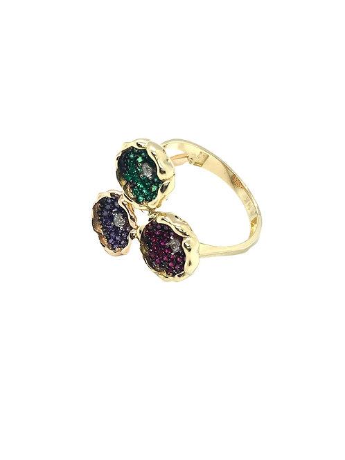 14k Multicolor Ring