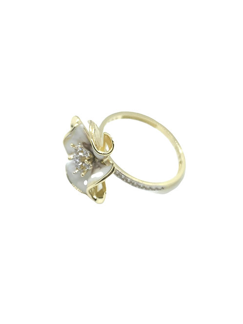 14k White Flower Ring