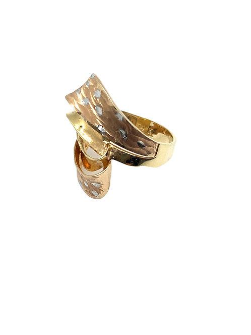 Tri Color Twist Ring