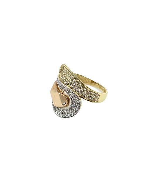 Tri Color Swirl Ring