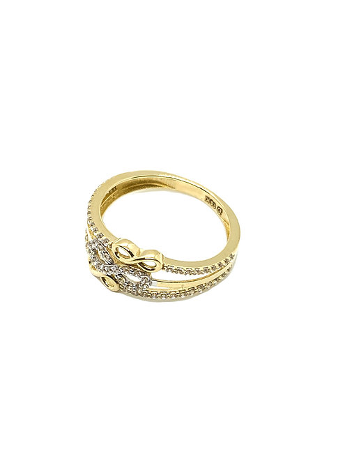 14k Gold Triple Infinity Ring