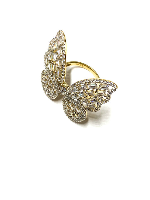 Winter Butterfly Ring
