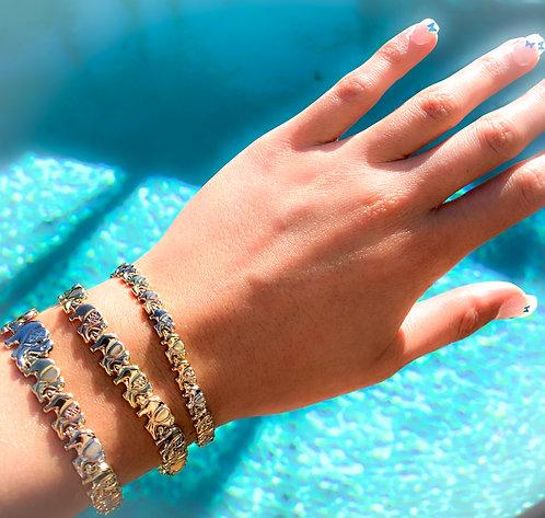 Tri-Color Elephant Bracelet
