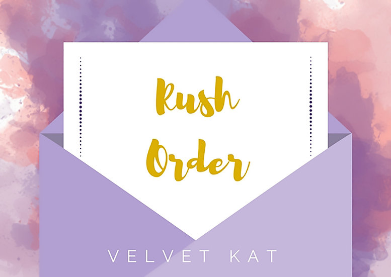 Upgrade to RUSH ORDER Your Custom Illustrations