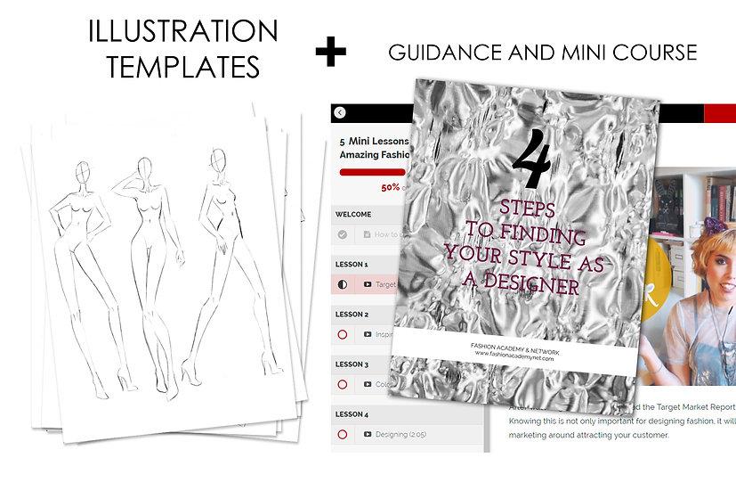 Fashion Illustration Templates, Mini Course, & Style Guide