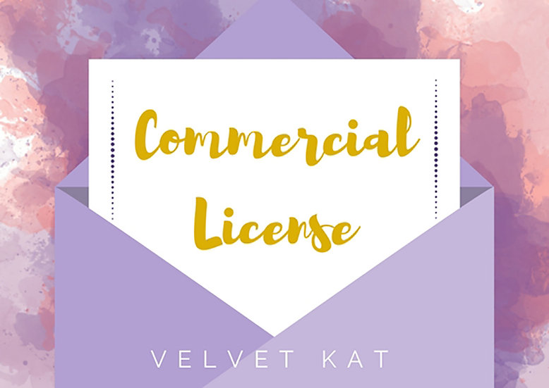 Commercial License for Velvet Kat Buyers of Custom Illustrations