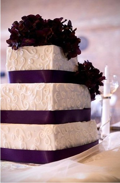 purple ribbon and swirl