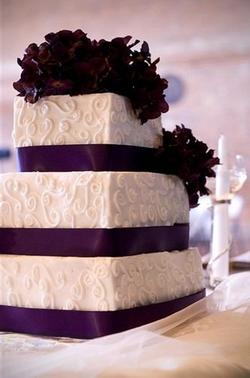 purple ribbon and swirl