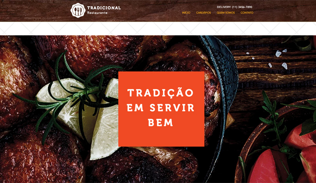 Ver todos os templates website templates – Restaurante traditional