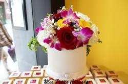 Wedding Cupcake Tower Cake with Rhinestone Diamente and Fresh Flowers