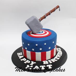 Birthday Cake - Superheroes Thor Hammer
