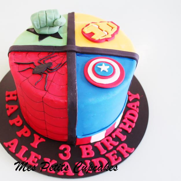 Birthday Cake - Superhero Spiderman Iron