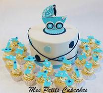 Baby Shower Cake - Pram Baby Shower Cake