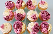 Cupcakes Floral - Pink Burgundy.JPG