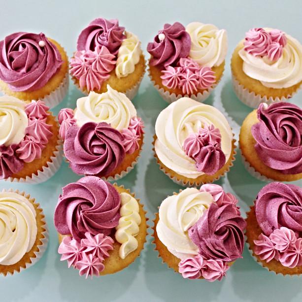 Cupcakes Floral - Pink Burgundy