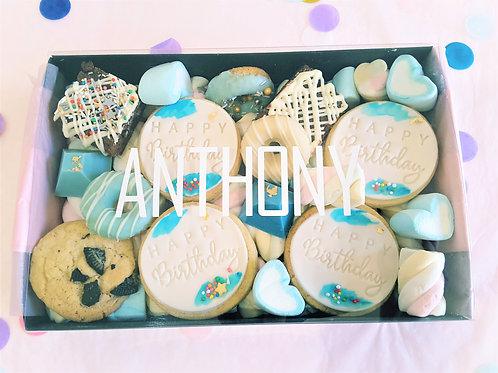 Happy Birthday Round Cookie Dessert Gift Box