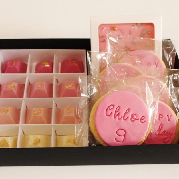 Gift Box Happy Birthday Pink