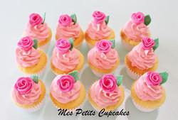 Pink Roses Cupcakes  Wedding