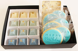 Gift Box Cookies and Chocolates