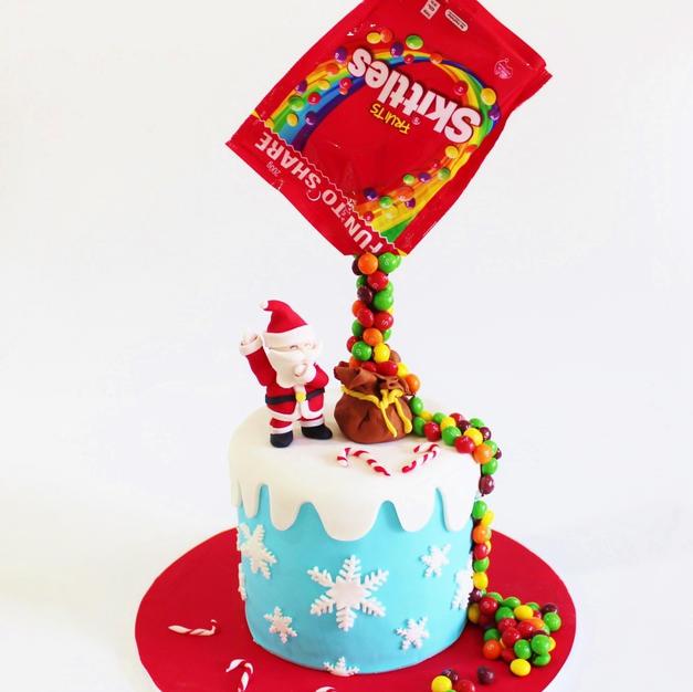 Birthday Cake - Christmas Xmas Santa Gra