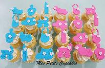 Cupcake - Baby Shower Baby Reveal Boy Gi