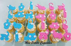 Cupcake - Baby Shower Baby Reveal Boy Gi