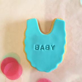 Cookie - Baby Bib Boy Blue