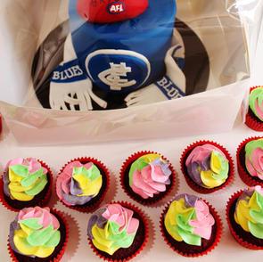 Birthday Cake - Carlton AFL Footy Cake