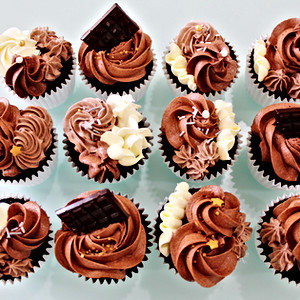 Cupcakes Floral - Chocolate