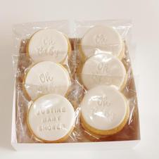 Cookies Baby Shower White