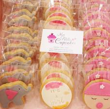 Cookies - Baby Shower Elephant Custom Na