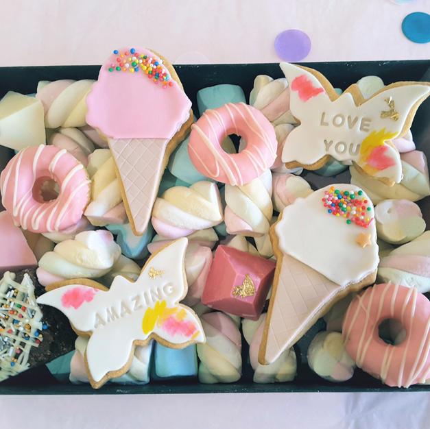 Dessert Box Happy Birthday Baby ShowerButterfly Ice Cream Cone