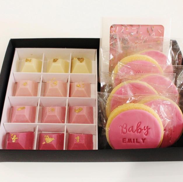 Gift Box Pink Baby Name