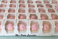 Cupcake - Wedding Pink and White Favours Bonbonniere in Box