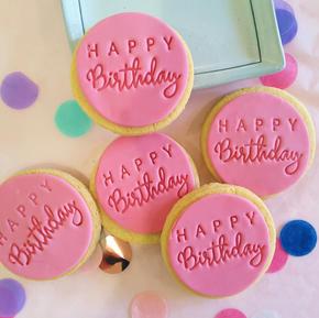 Cookie - Happy Birthday Pink