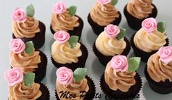 Pink Flower Cupcakes  Wedding