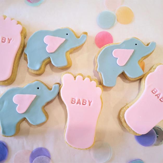 Cookies Baby Elephant Baby Feet Cookie