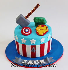 Birthday Cake - Superheroes Birthday Cak