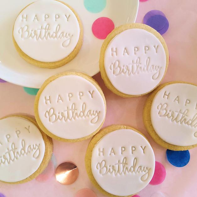 Cookie - Happy Birthday White